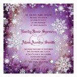 Wintery Purple Wedding Invitation