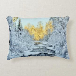 Wintery Stream Accent Pillow
