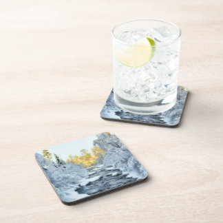 Wintery Stream Beverage Coaster