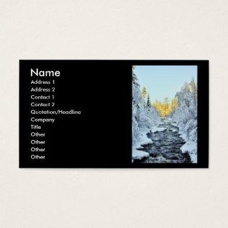 Wintery Stream Business Card