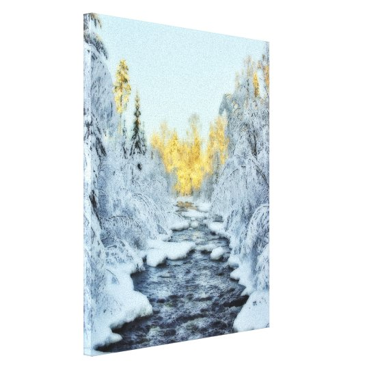 Wintery Stream Canvas Print