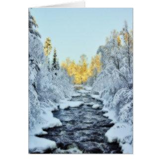 Wintery Stream Card
