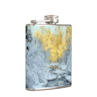 Wintery Stream Flask