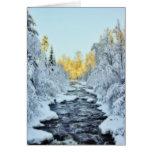 Wintery Stream Greeting Card