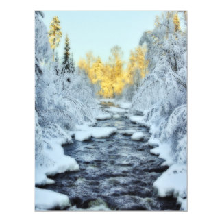 Wintery Stream Magnetic Card