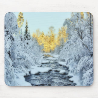 Wintery Stream Mouse Pad