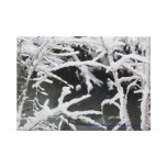 Wintery Stream Wrapped Canvas Gallery Wrap Canvas