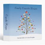 Wintery Tree of Cupcakes Recipe 3 Ring Binders