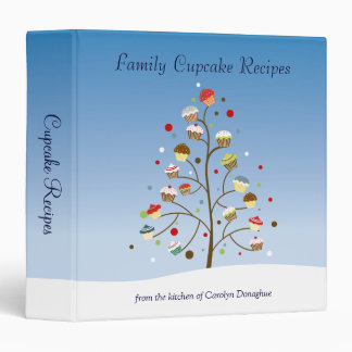 Wintery Tree of Cupcakes Recipe Binder
