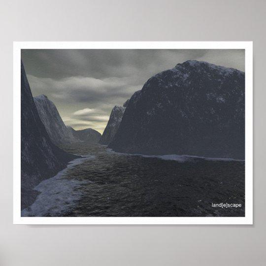 Wintery Waterway Poster