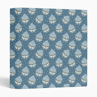 Wintry Cupcake Pattern 3 Ring Binder