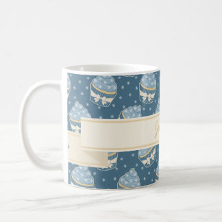 Wintry Cupcake Pattern and Ribbon Coffee Mug