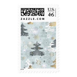 Wintry Forest Postage