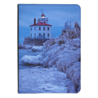 Wintry, Icy Night At Fairport Harbor Lighthouse Kindle 4 Cover