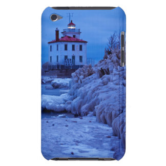 Wintry, Icy Night At Fairport Harbor Lighthouse Case-Mate iPod Touch Case