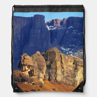 Wintry Mountain View, Royal Natal National Park Drawstring Backpack