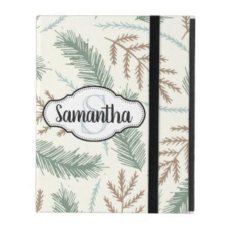Wintry Pine Monogrammed iPad Case
