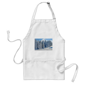 Wintry Snow Firs Snowy Time Of Year Winter Cold Adult Apron