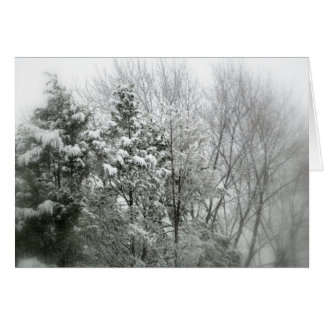 Wintry snow scene card