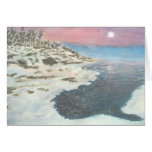 Wintry Sunset in Grand Portage Greeting Card