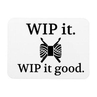 WIP It Good - Crochet Magnet