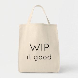 WIP it good! Grocery Tote Bag