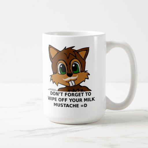 Wipe off your milk mustache classic white coffee mug