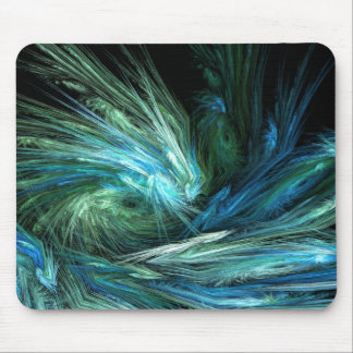 Wipe Out Abstract Digital Art Mouse Pad