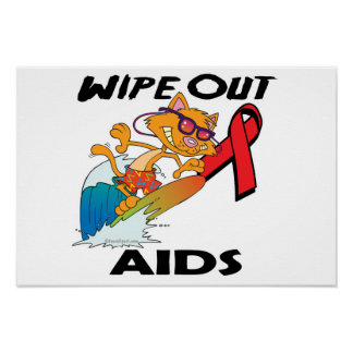 Wipe Out AIDS Poster