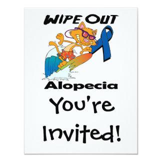 Wipe Out Alopecia Personalized Invites