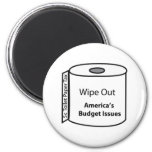 Wipe Out America's Budget Issues Fridge Magnet