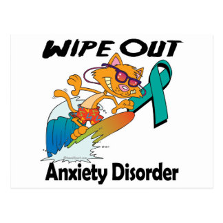 Wipe Out Anxiety Disorder Postcard