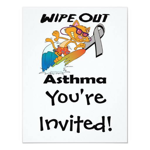 Wipe Out Asthma 4.25x5.5 Paper Invitation Card