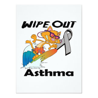 Wipe Out Asthma 6.5x8.75 Paper Invitation Card