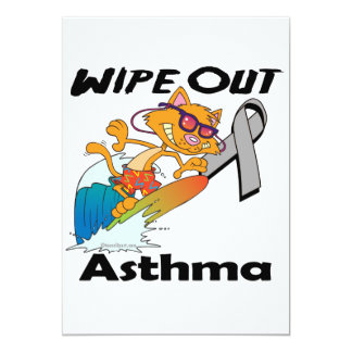 Wipe Out Asthma 5x7 Paper Invitation Card