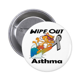 Wipe Out Asthma Pinback Button