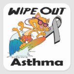 Wipe Out Asthma Square Sticker