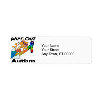 Wipe Out Autism Return Address Label