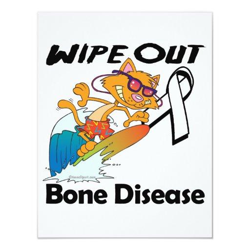 "Wipe Out Bone Disease 4.25"" X 5.5"" Invitation Card"