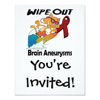 Wipe Out Brain Aneurysms Personalized Invite