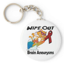 Wipe Out Brain Aneurysms Keychain