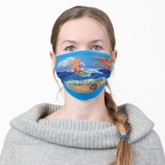 Wipe Out Cancer Angel Art Custom Face Masks