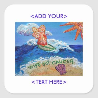 Wipe Out Cancer Angel Art Decal Stickers