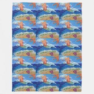 Wipe Out Cancer Angel Custom Art Fleece Blanket