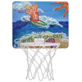 Wipe Out Cancer Angel Fun Basketball Hoop