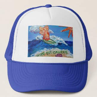 Wipe Out Cancer Angel Hat