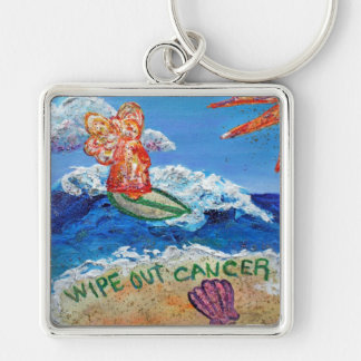 Wipe Out Cancer Angel Keychain