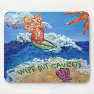 Wipe Out Cancer Angel Mouse Pad