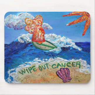 Wipe Out Cancer Angel Mousepad
