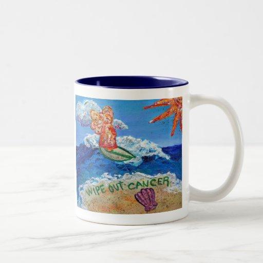 Wipe Out Cancer Angel Mug